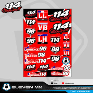 stickers a3 team 114motorsports